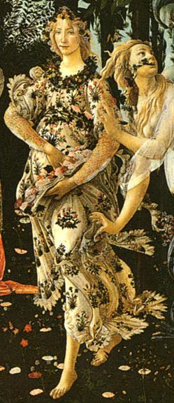 Printemps Botticelli Sandro Flore D 233 Tail Florence 1500
