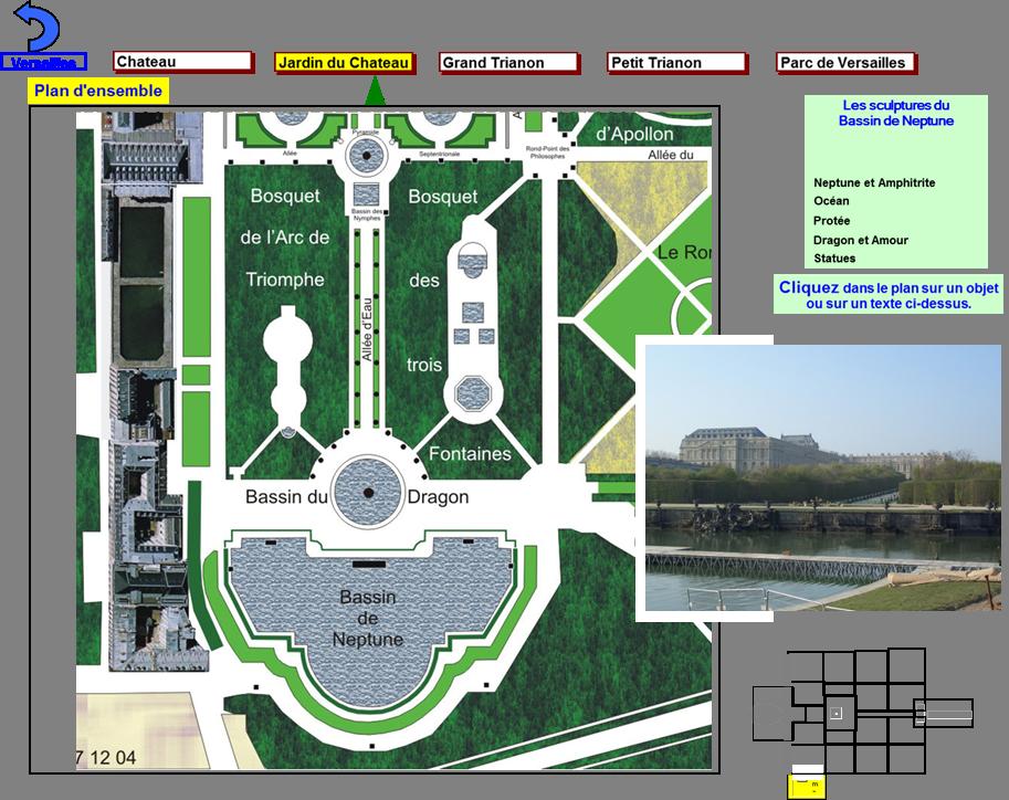 Versailles jardin du ch teau bassin de neptune plan - Saint cyprien les jardins de neptune ...